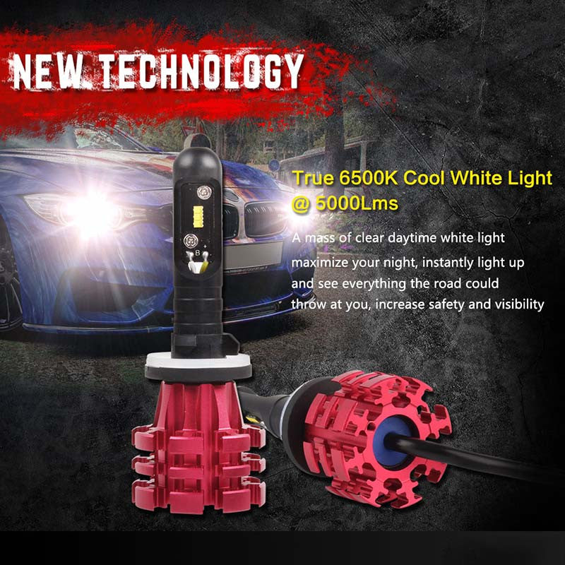 NOVSIGHT A344 Philip 60W 10000LM 880 LED Car Headlight