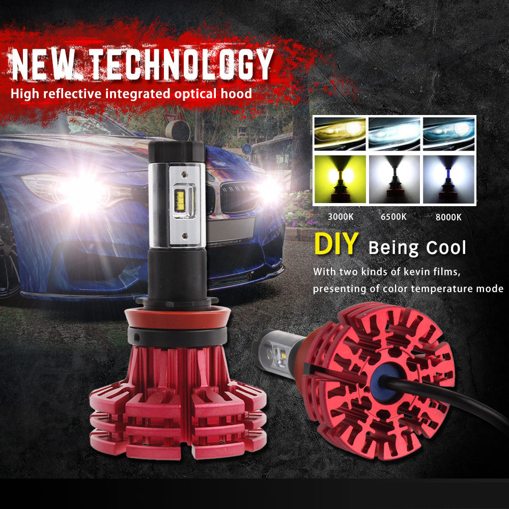 NOVSIGHT A344 Philip 60W 10000LM H11 LED Car Headlight