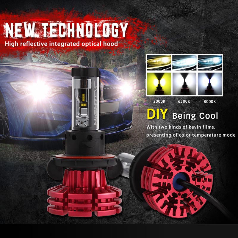 NOVSIGHT A344 Philip 60W 10000LM H13 LED Car Headlight
