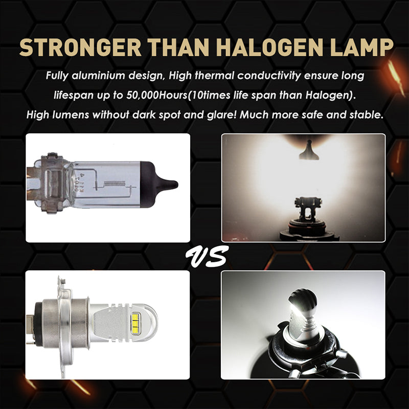 NOVSIGHT 60W 1500LM H4 9003 HB2 LED Fog Light Bulbs Lamp Replace Halogen White