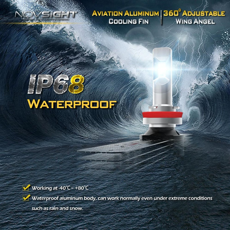 N10 60W 10000LM 2*LED headlight bulb 9005 (HB3)