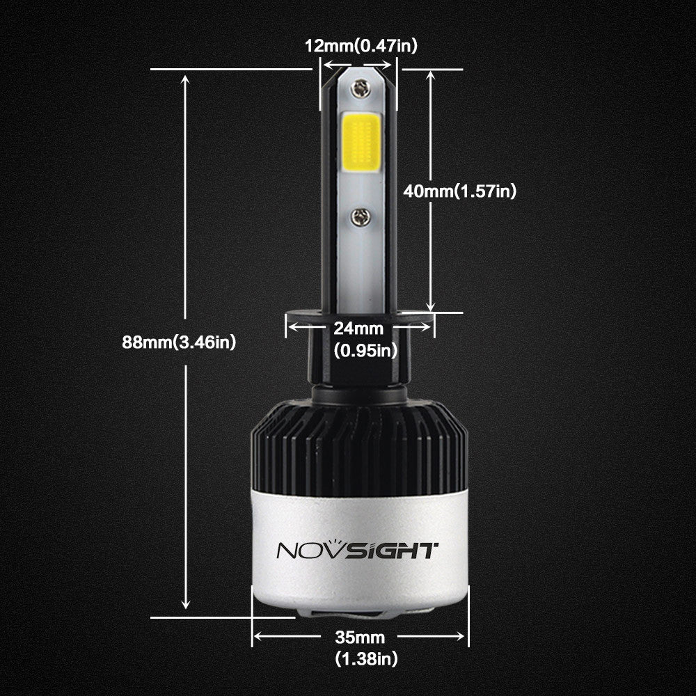 NOVSIGHT A315 9000LM 72W H1 LED Car Headlight