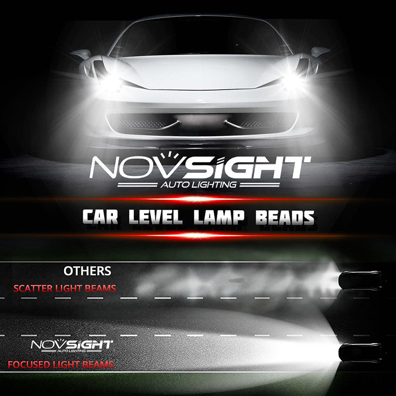 NOVSIGHT A363 H4 9003 HB2 LED Headlight Kit Light Bulb Hi/Low White 6000K 80W 13600LM