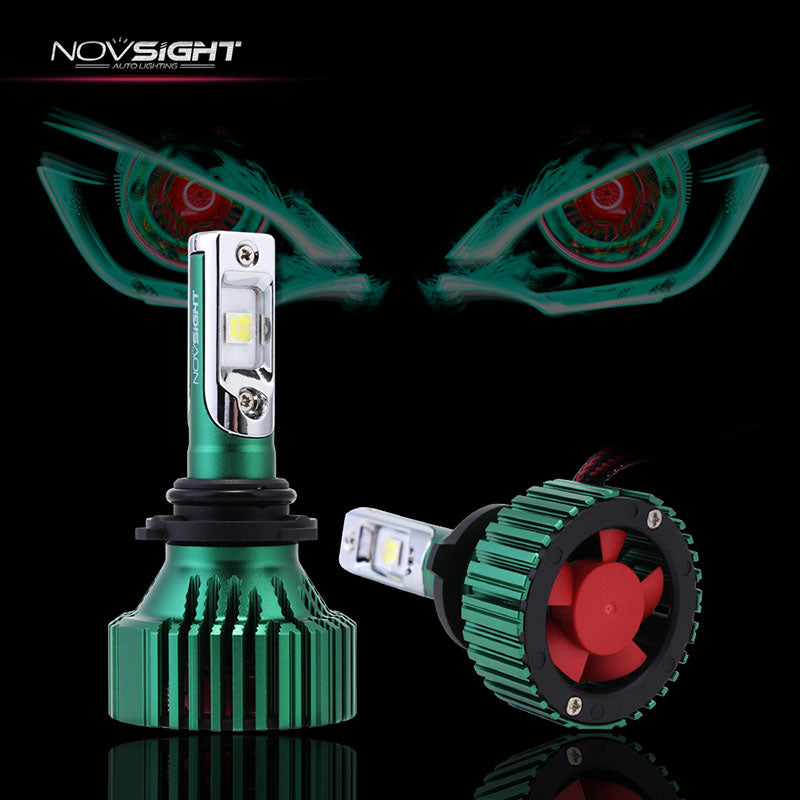 NOVSIGHT 9006 HB4 LED Headlight Light Bulbs White 60W 16000LM - CREE LED Chips