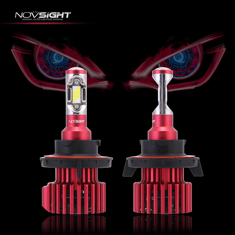NOVSIGHT 60W 10000LM H13 LED Headlight Light Bulbs Set Driving Lamp Hi/Low 6000K