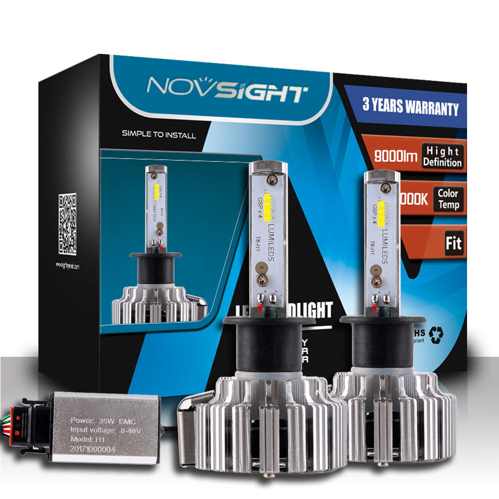 NOVSIGHT A333 9000LM 70W Car LED Headlights H1
