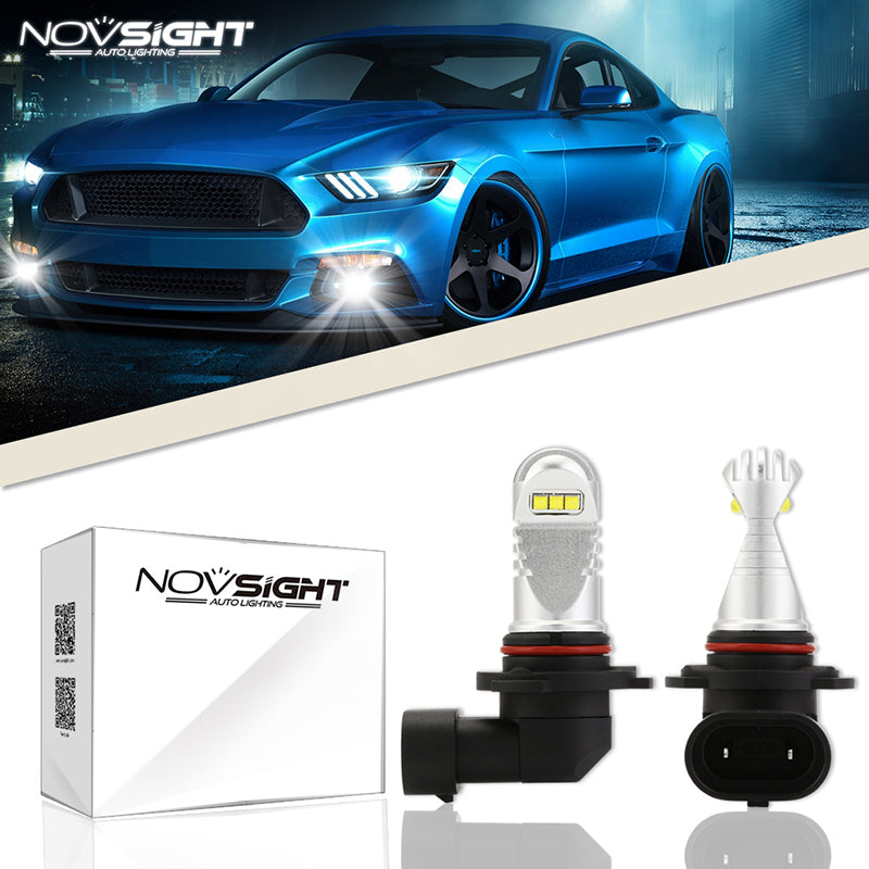 NOVSIGHT 60W 1500LM 9006 HB4 LED Fog Light Bulb Car Lamp Replace Halogen White