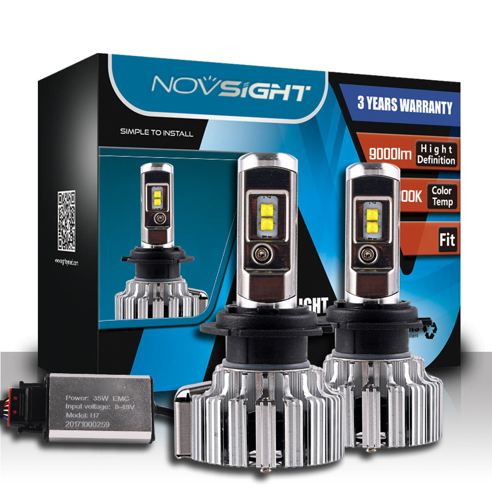 NOVSIGHT A333 9000LM 70W Car LED Headlights H7