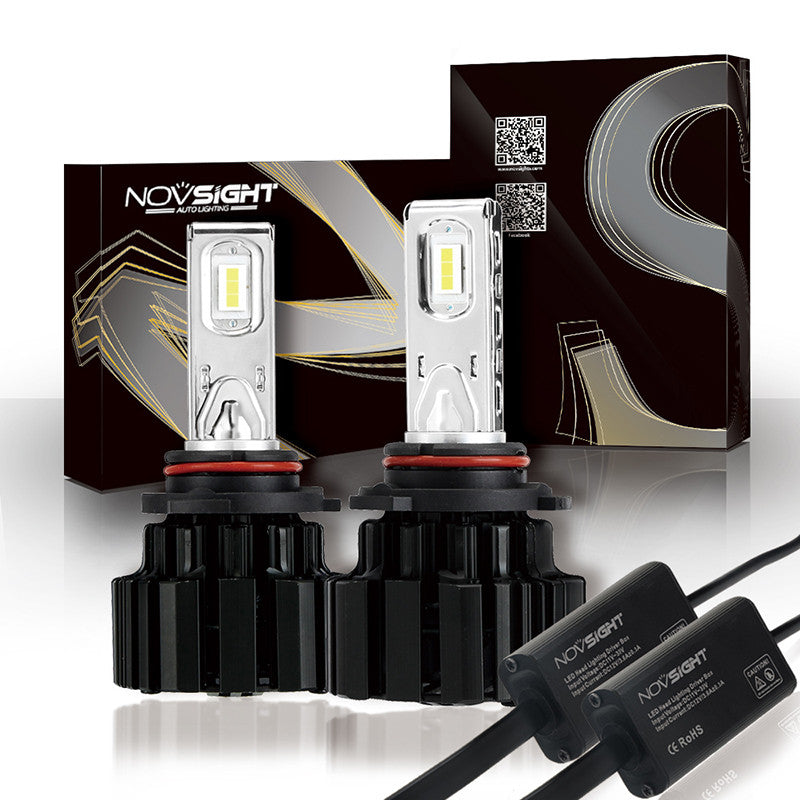 NOVSIGHT A363 9006 HB4 LED Headlight Kit Fog Light Bulbs White 6000K 80W 13600LM/Set