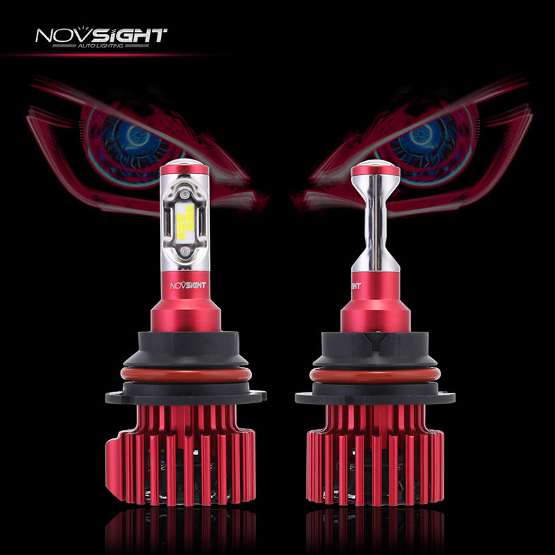 NOVSIGHT 60W 10000LM 9007 LED Headlight Light Bulbs Driving Lamp Hi/Low 6000K