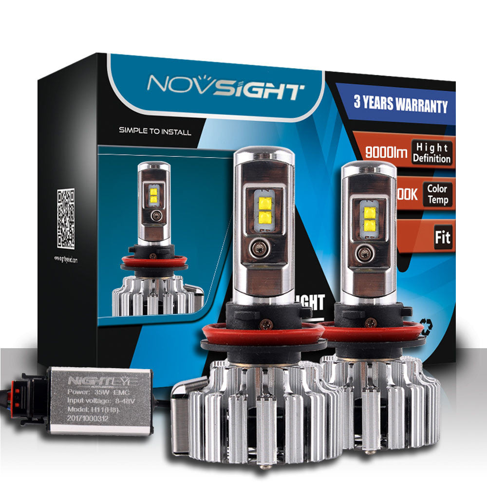 NOVSIGHT A333 9000LM 70W Car LED Headlights H11