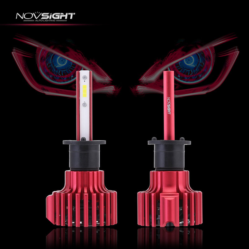 NOVSIGHT 60W 10000LM H1 LED Headlight Light Bulbs Set Driving Lamp DRL 6000K