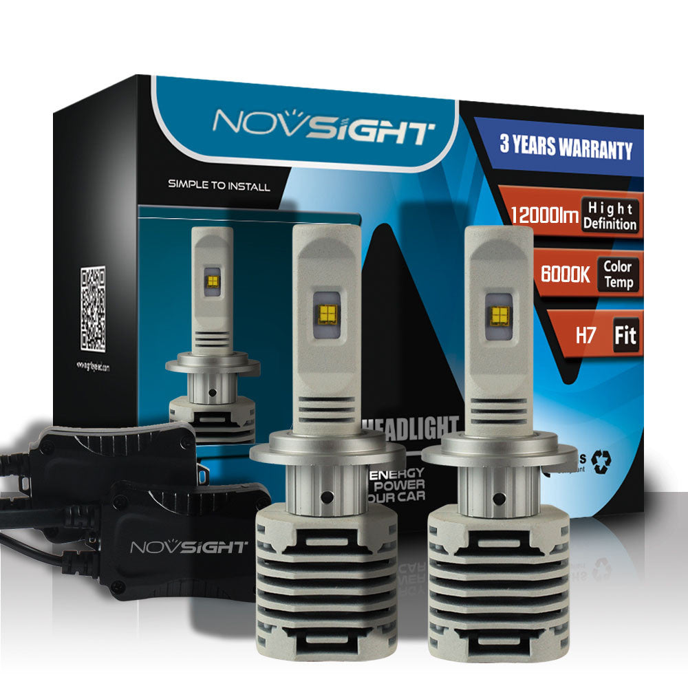 NOVSIGHT A328 H7 80W 12000LM LED Car Headlight