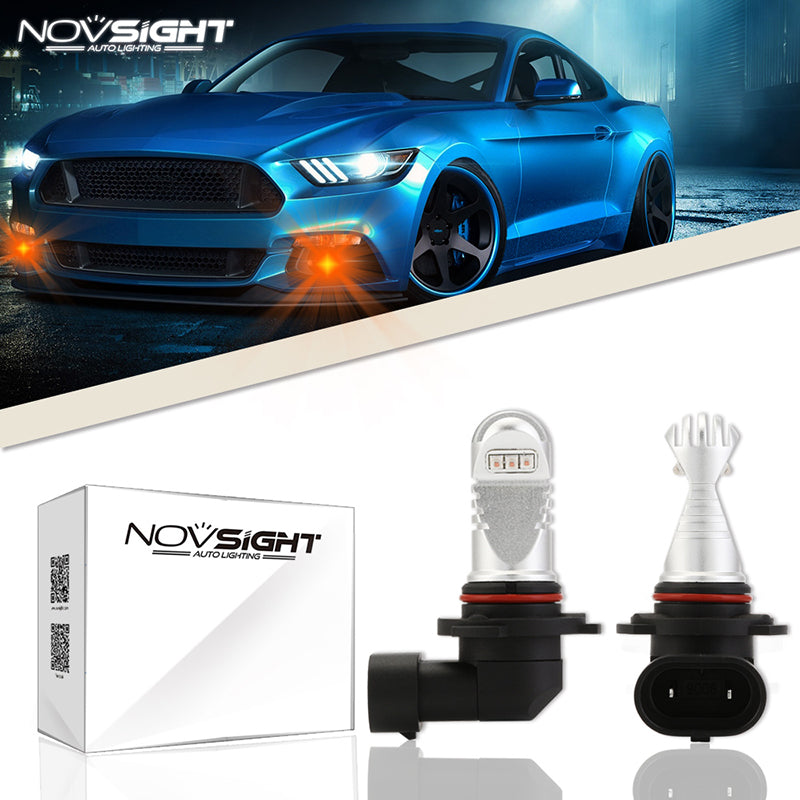 NOVSIGHT 60W 700LM 9006 HB4 LED Fog Light Bulbs Car Lamp Replace Halogen Amber