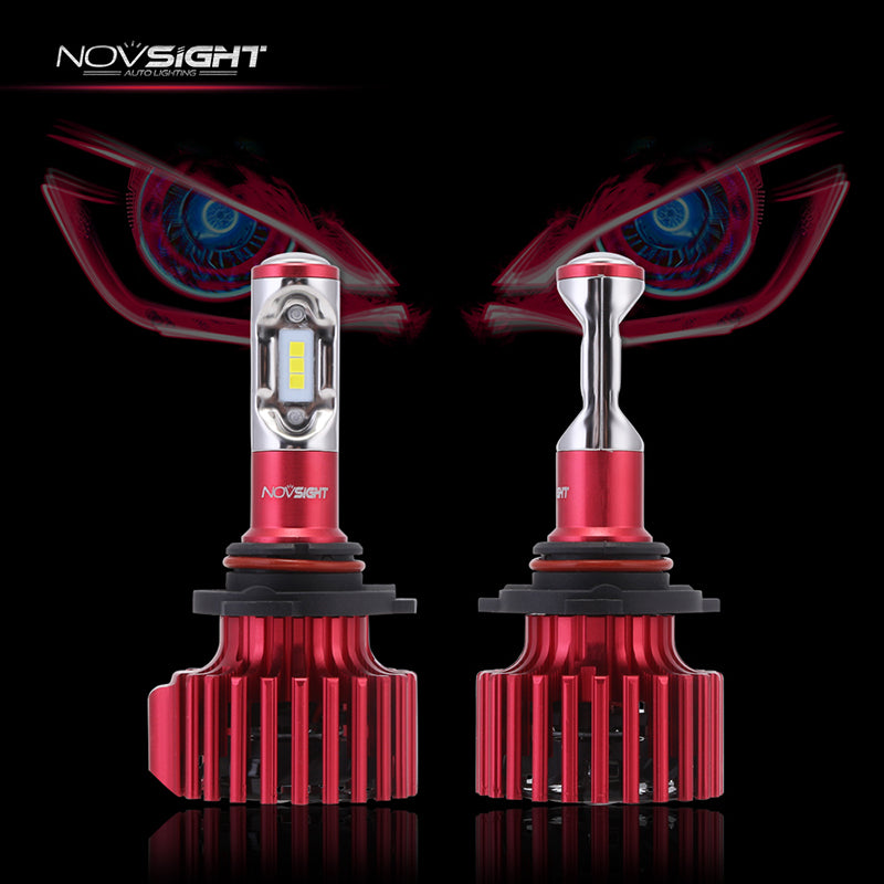 NOVSIGHT 60W 10000LM 9005/HB3 LED Headlight Light Bulbs Driving Lamp Set 6000K