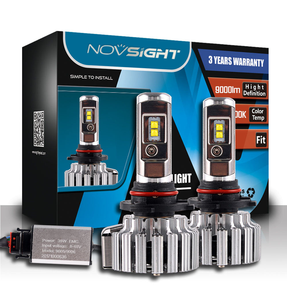 NOVSIGHT A333 9000LM 70W Car LED Headlights 9005
