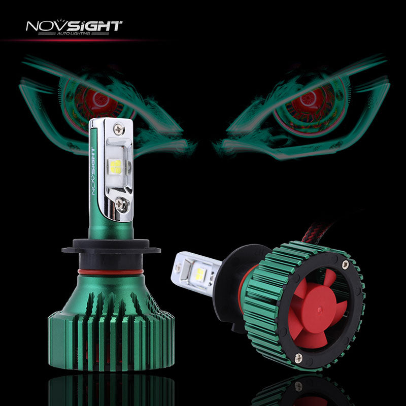 NOVSIGHT H7 LED Headlight Light Bulbs White 60W 16000LM - CREE LED Chips