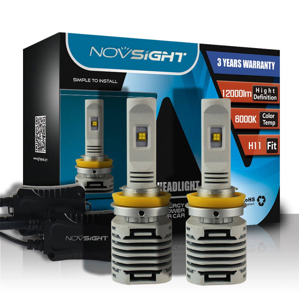 NOVSIGHT A328 H11 80W 12000LM LED Car Headlight