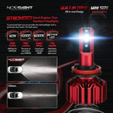 Novsight N11 LED Headlight Bulbs Conversion Kit Extremely Bright 60W 10000LM 6000K Cool White