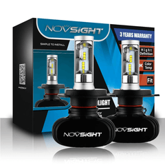 NOVSIGHT 8000LM 50W H4 LED Car Headlight