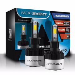 NOVSIGHT 9000LM 72W H3 LED Car Headlight