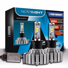 NOVSIGHT 9000LM 70W Car LED Headlights H3