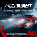 Novsight Red Body Led Headlight Kit Fog Light Bulbs White 6000K 80W 13600Lm/set