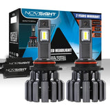 9006/HB4 Low Beam Novsight LED Headlight Bulbs Conversion Kit Super Brightness 15000LM/Pair 6000K Xenon White Warranty 2 Year - NOVSIGHT Auto Lighting