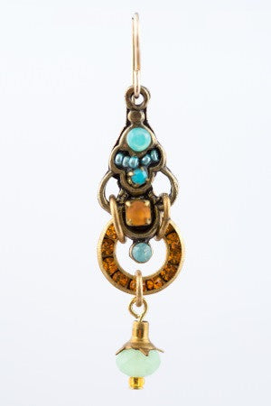 Bell Earring in Topaz