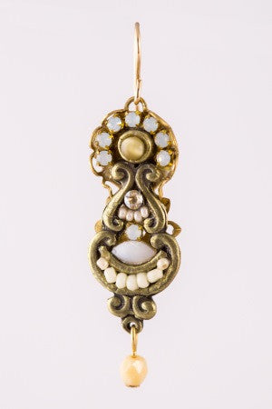 Halo Earring in Cream