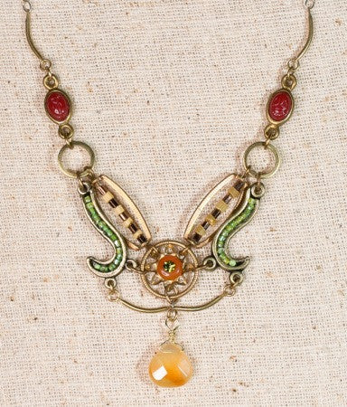 Carnelian Sunflower Necklace