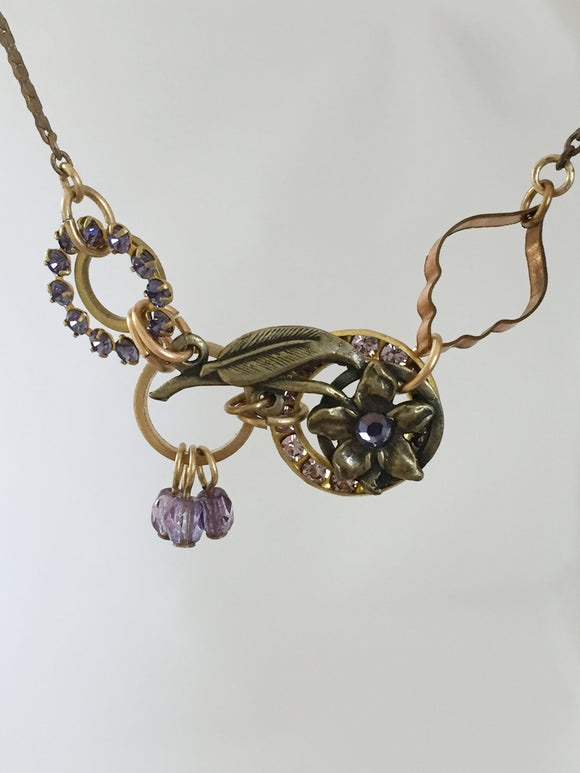 Lavender Lilly Necklace