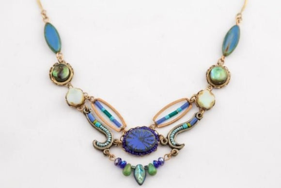 Sunburst Necklace in Lapis
