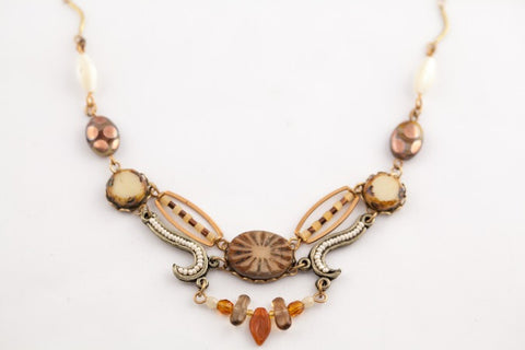 Sunburst Necklace in Salted Caramel