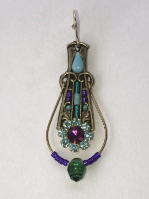 Condessa Earring in Turquoise + Amethyst