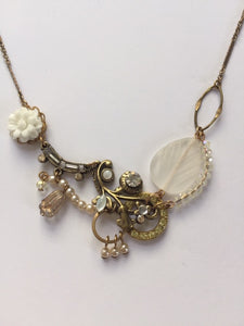 Hydrangea Necklace in Crystal