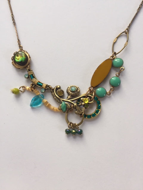Hydrangea Necklace in Celadon