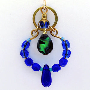 Gaia Earring in Cobalt