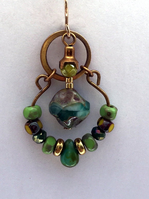 Gaia Earring in Jade