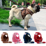 Pet Dog Cat Harness with Leash Adjustable Vest Walking Supplies Soft Breathable Collar Puppy for Small Medidum Large Dogs