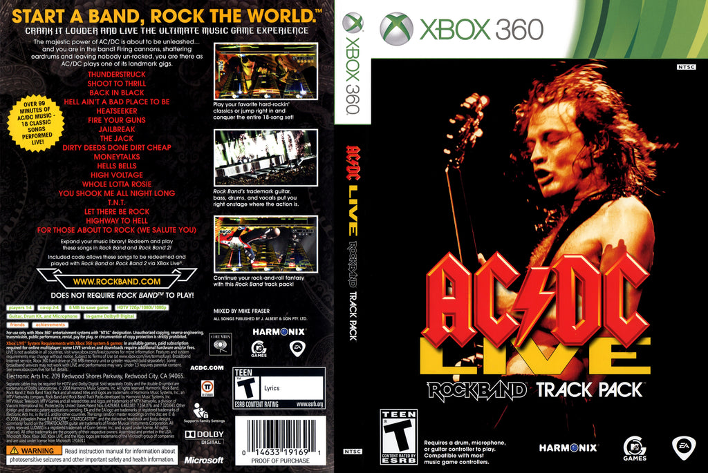 AC DC Live Rock Band Track Pack Xbox 360