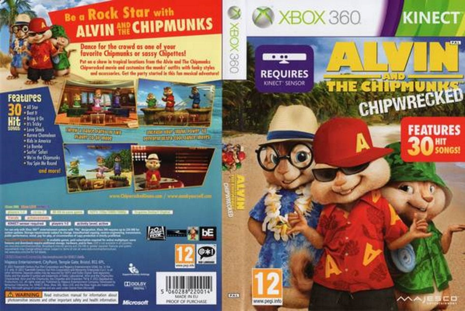 Alvin and The Chipmunks Chipwrecked XBox 360