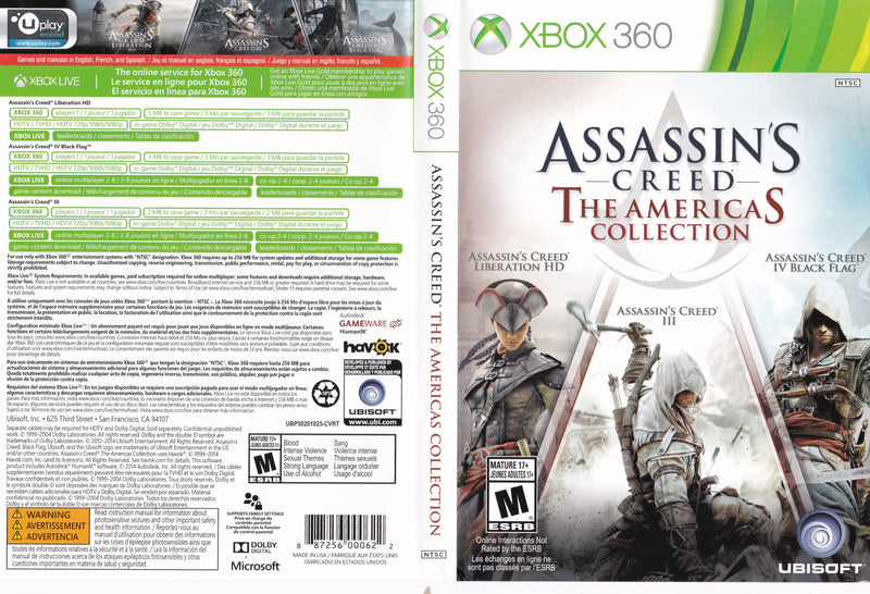 Assassin S Creed The Americas Collection Xbox 360 Clarkade