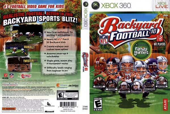 Backyard Football Video Game backyard football 2010 xbox 360 | clarkade