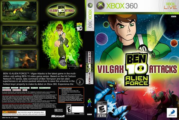 Ben 10 Alien Force Vilgax Attacks Xbox 360 Clarkade