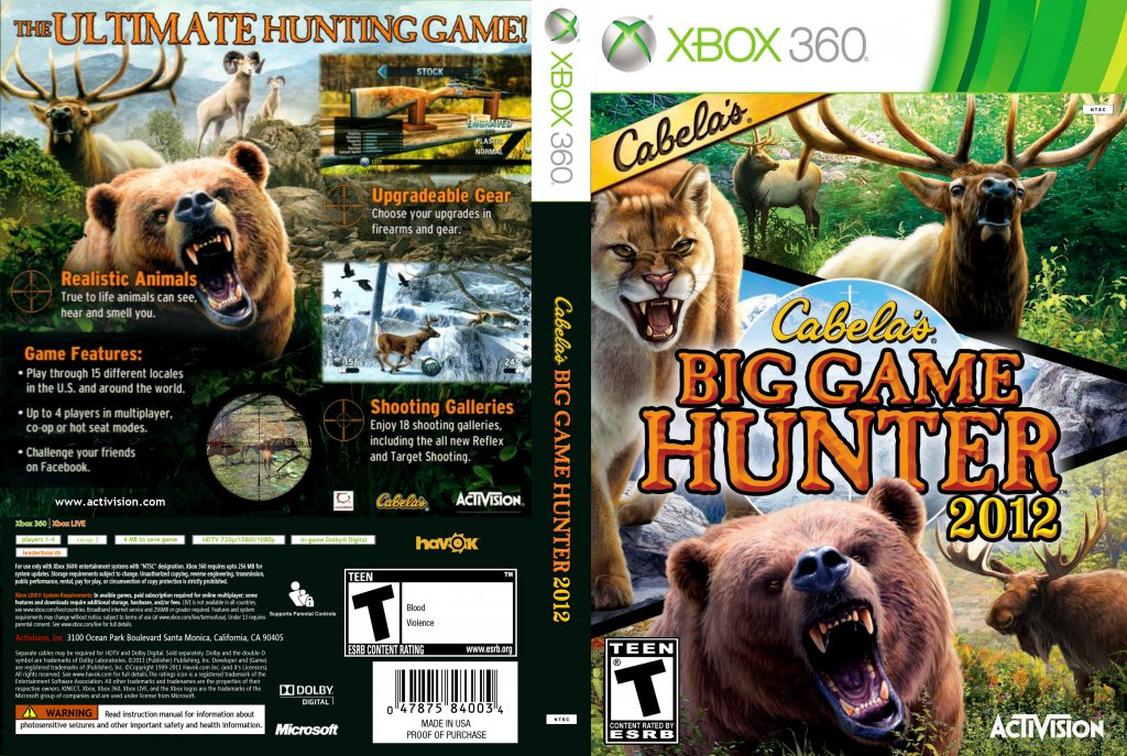 Cabela's Big Game Hunter 2012 Xbox 360