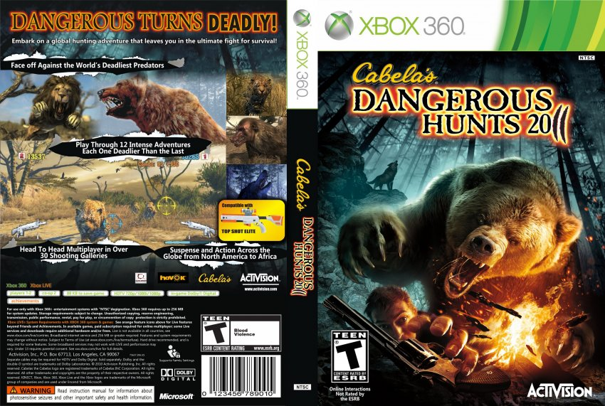 Cabela's Dangerous Hunter 2011 XBox 360