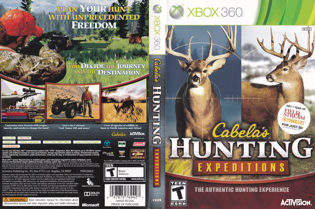 Cabela's Hunting Expeditions Xbox 360