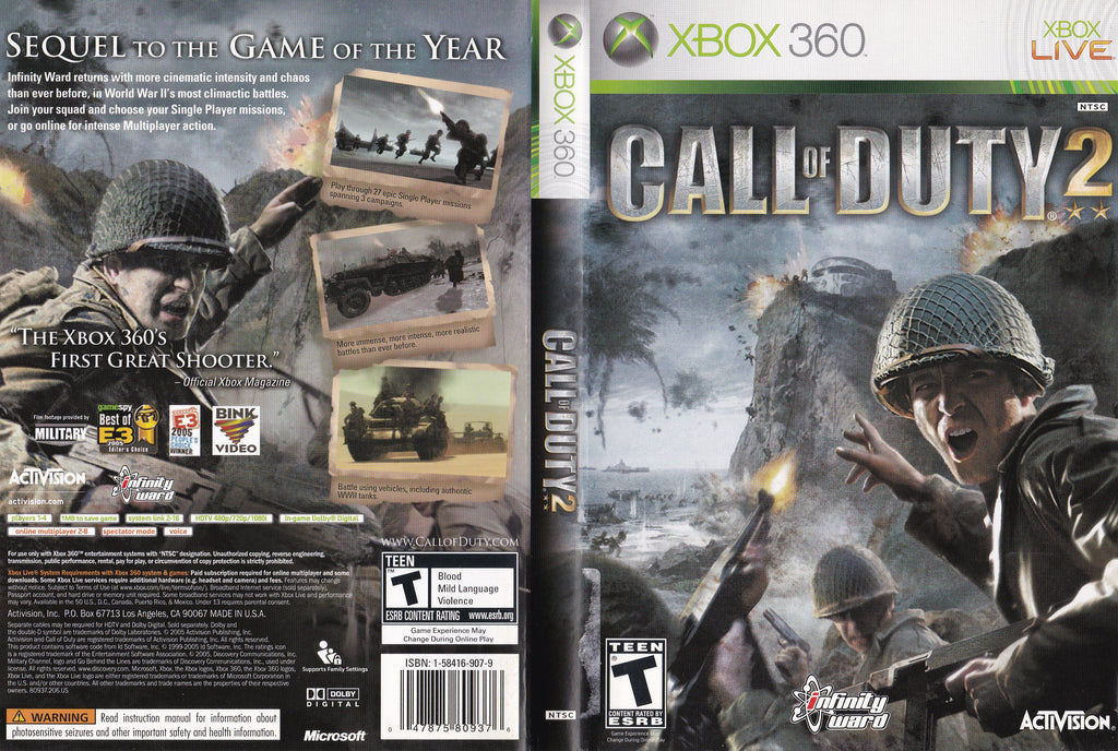 Call Of Duty 2 XBox 360