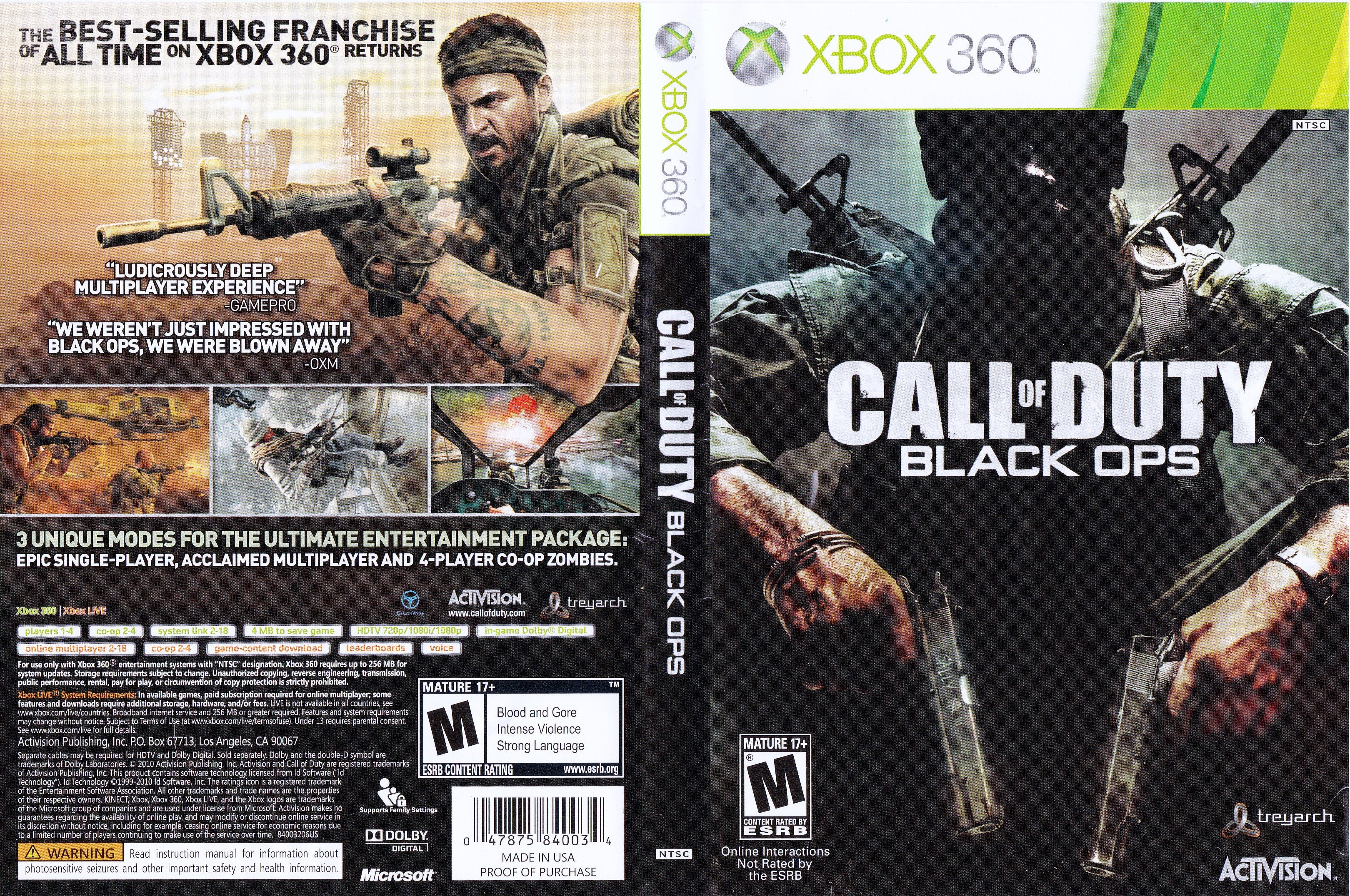 Call of duty: black ops for xbox 360 | gamestop.